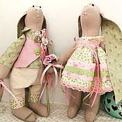 Куклы и игрушки handmade. Livemaster - original item Hares interior toys, gift for a calico wedding. Handmade.