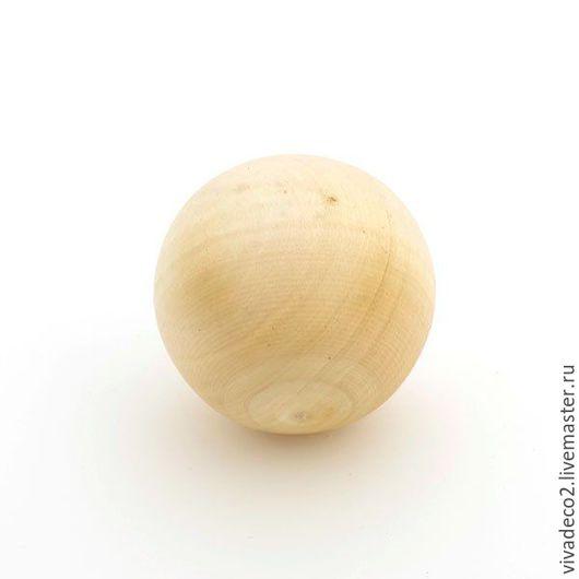Заготовки для декупажа, деревянный шар из 2х половинок d7-8 см  ост 2 шт