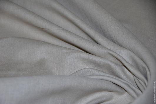 """Шитье ручной работы. Ярмарка Мастеров - ручная работа. Купить Лён-хлопок """"Верба"""" мягкий. Handmade. Серый, ткани для рукоделия"""