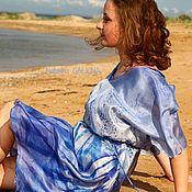 """Одежда ручной работы. Ярмарка Мастеров - ручная работа Платье шелковое """"У моря синего"""". Handmade."""