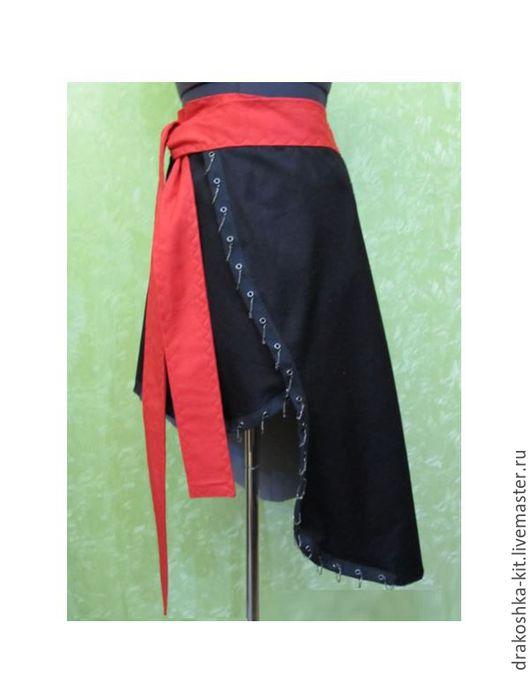 Детские карнавальные костюмы ручной работы. Ярмарка Мастеров - ручная работа. Купить Пиратская юбка для карнавала. Handmade. Черный, хлопок