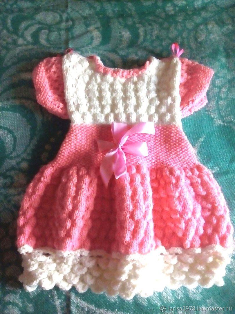 Платье вязаное для девочки Розовая мечта