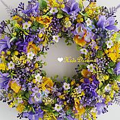 """Цветы и флористика ручной работы. Ярмарка Мастеров - ручная работа Веночек """"Солнце в фиолете"""". Handmade."""