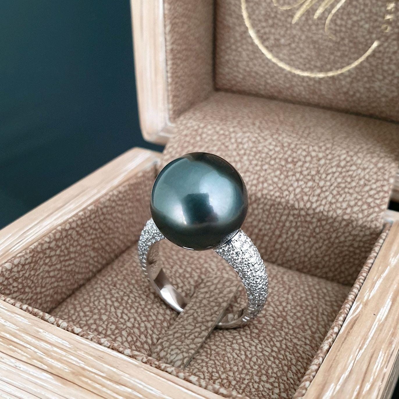 Золотое кольцо с черной жемчужиной, Кольца, Москва,  Фото №1