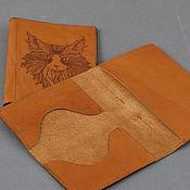 Канцелярские товары ручной работы. Ярмарка Мастеров - ручная работа Обложка под паспорт и карточки. Handmade.