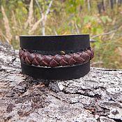 Украшения handmade. Livemaster - original item Leather bracelet Braided line. Handmade.