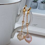 handmade. Livemaster - original item Kasumi Pearl Earrings