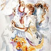 Картины и панно handmade. Livemaster - original item Your arms - painting watercolor. Handmade.