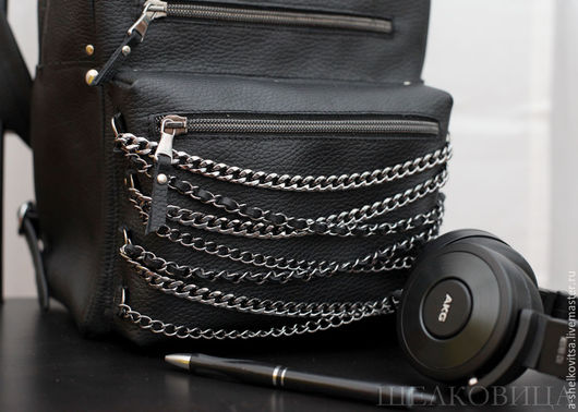 Рюкзаки ручной работы. Ярмарка Мастеров - ручная работа. Купить Кожаный рюкзак Hard Rock. Handmade. Черный, рюкзак для города