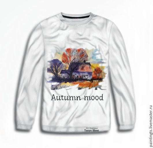 """Кофты и свитера ручной работы. Ярмарка Мастеров - ручная работа. Купить Женский свитшот """"Autumn mood"""" с авторским принтом 3D. Handmade."""