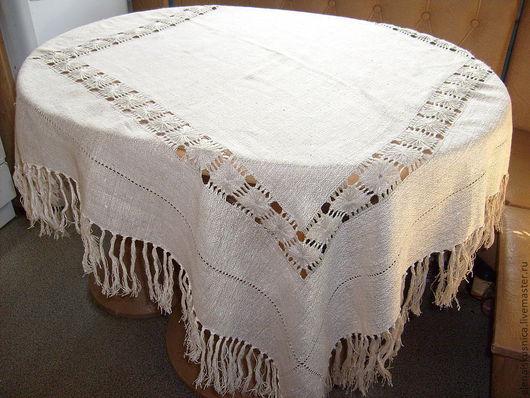 Текстиль, ковры ручной работы. Ярмарка Мастеров - ручная работа. Купить Скатерть льняная. Handmade. Серый, лён