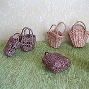 Куклы и игрушки ручной работы. Ярмарка Мастеров - ручная работа Плетеные корзинки для кукол. Handmade.