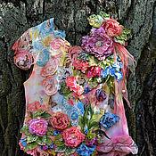Одежда ручной работы. Ярмарка Мастеров - ручная работа Блузка Butterfly garden. Handmade.