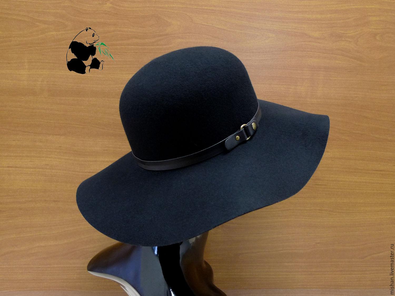 Женская шляпа из фетра своими руками 326