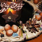 """Подарки к праздникам ручной работы. Ярмарка Мастеров - ручная работа Рождественский венок """"Ароматы корицы"""". Handmade."""