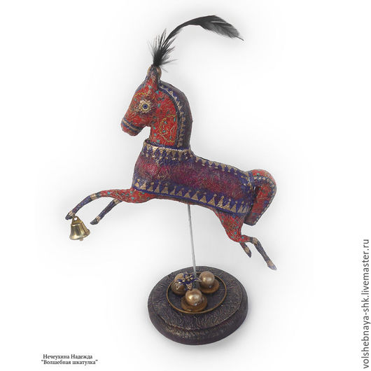 """Статуэтки ручной работы. Ярмарка Мастеров - ручная работа. Купить Интерьерная игрушка """"Лошадка"""", статуэтка. Handmade. Интерьерная игрушка, лошадка"""