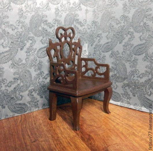 """Кукольный дом ручной работы. Ярмарка Мастеров - ручная работа. Купить Кукольное кресло """"Восточное"""". Handmade. Кукольная миниатюра, игрушка"""