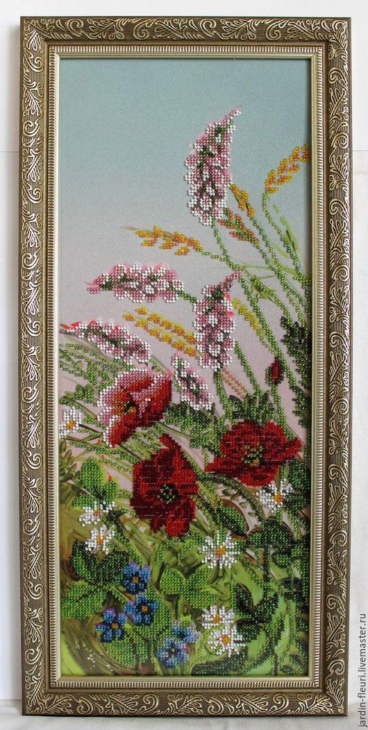 Картины цветов ручной работы. Ярмарка Мастеров - ручная работа. Купить Полевые цветы. Handmade. Комбинированный, картина в подарок