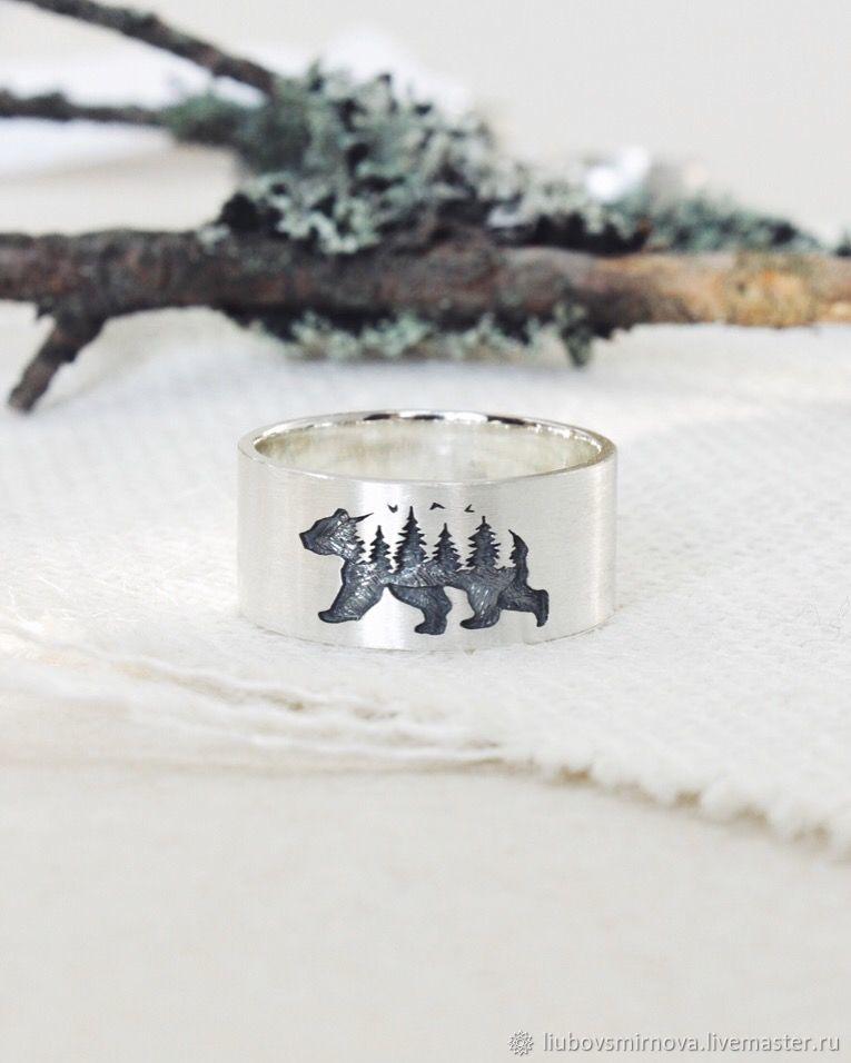 """Кольцо """"Медведь"""" из серебра, Кольца, Кострома,  Фото №1"""