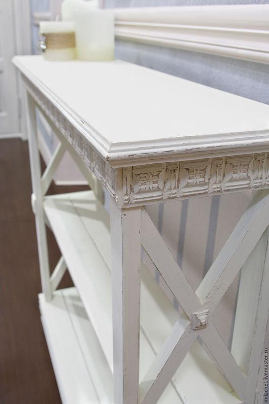 """Мебель ручной работы. Ярмарка Мастеров - ручная работа. Купить Этажерка """"Abelia"""". Handmade. Молочный цвет, сосна"""