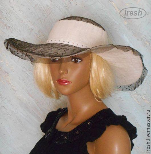 """Шляпы ручной работы. Ярмарка Мастеров - ручная работа. Купить Шляпа """"Женская тайна"""". Handmade. Авторская работа, шляпа летняя"""
