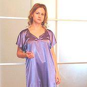 """Одежда ручной работы. Ярмарка Мастеров - ручная работа """"Вечерняя прохлада"""" атласное платье. Handmade."""