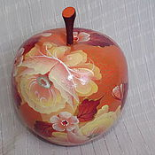 """Шкатулки ручной работы. Ярмарка Мастеров - ручная работа Шкатулка в форме яблока """"Оранжевое настроение"""". Handmade."""