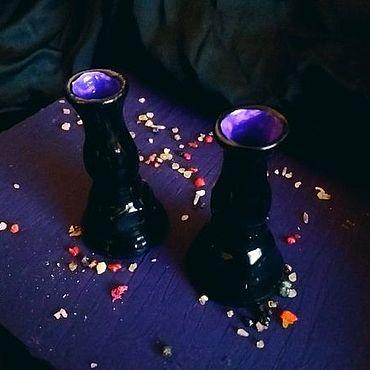 Феншуй ручной работы. Ярмарка Мастеров - ручная работа Подсвечники для тонких свечей. Handmade.