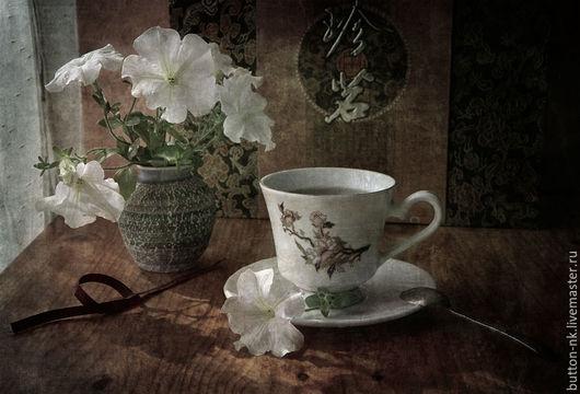 Фотокартины ручной работы. Ярмарка Мастеров - ручная работа. Купить Натюрморт Чайная церемония. Handmade. Коричневый, белый, чай, китай