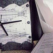"""Для дома и интерьера ручной работы. Ярмарка Мастеров - ручная работа Часы """"Чертёж """" Наутилуса"""",   Жюль Верн. Handmade."""