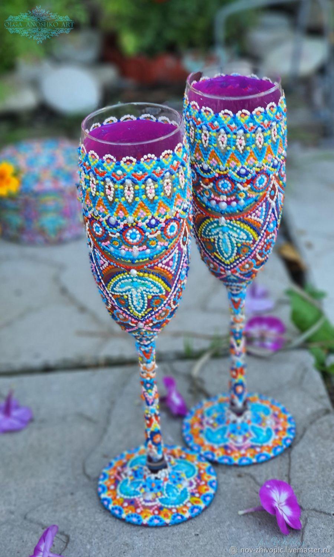 Glasses ' Eastern Fairy Tale', Wedding glasses, Velikiy Novgorod,  Фото №1