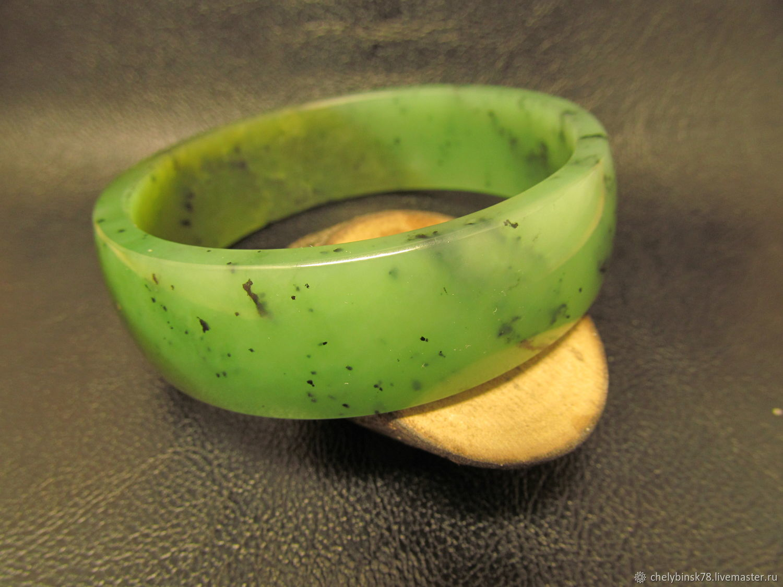 Bangle of solid jade , Hard bracelet, Chrysostom,  Фото №1