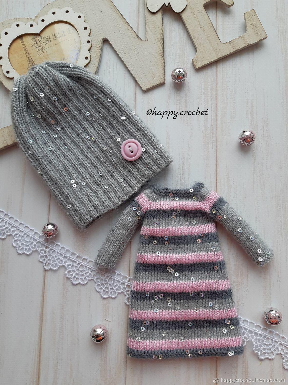 Аутфит Платье+Шапочка для куколки Блайз, Одежда для кукол, Барнаул,  Фото №1