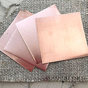 Материалы для творчества handmade. Livemaster - original item Copper plate 50h50 mm for enameling thickness 0,5 and 0,3. Handmade.