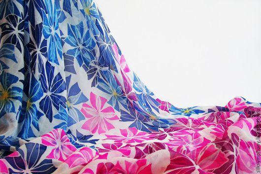 """Шали, палантины ручной работы. Ярмарка Мастеров - ручная работа. Купить Парео """"Вальс цветов"""". Handmade. Разноцветный, парео"""