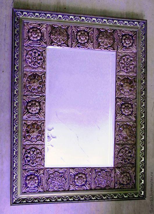 Зеркала ручной работы. Ярмарка Мастеров - ручная работа. Купить зеркало Фиолетово - коричневое. Handmade. Оригинальный подарок, украшение интерьера