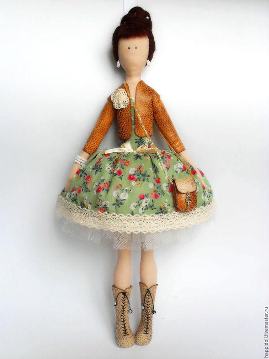 Коллекционные куклы ручной работы. Ярмарка Мастеров - ручная работа. Купить Авторская  текстильная кукла Анжеличка. Handmade. коллекционная кукла