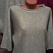 Одежда handmade. Livemaster - original item 100% linen yarn .Jumper Bat in stock. Handmade.