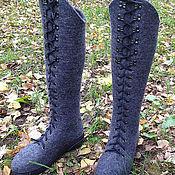 Обувь ручной работы. Ярмарка Мастеров - ручная работа Валяные сапоги-ботфорты-2. Handmade.