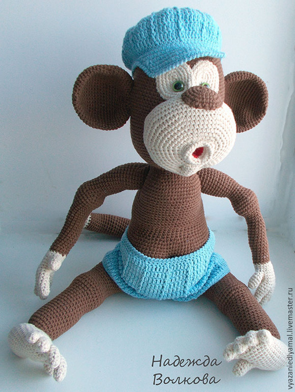 Вязание обезьяна схема