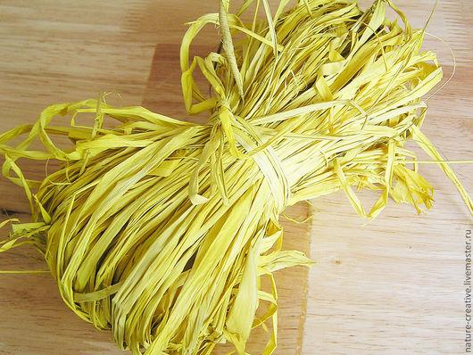 Другие виды рукоделия ручной работы. Ярмарка Мастеров - ручная работа. Купить Рафия натуральная желтый цвет. Handmade. Для мыла