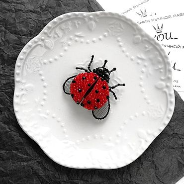 """Украшения ручной работы. Ярмарка Мастеров - ручная работа Брошь """"Божья Коровка"""". Ladybug. Handmade."""