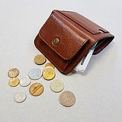 Wallets handmade. Livemaster - original item Small leather wallet of red-brown color. Handmade.