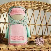Куклы и игрушки ручной работы. Ярмарка Мастеров - ручная работа Крупеничка Нежность рассветная, русская народная кукла, мятный розовый. Handmade.