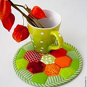 Для дома и интерьера ручной работы. Ярмарка Мастеров - ручная работа Подставка под горячее Осенняя. Handmade.