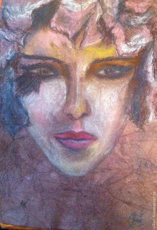 Фэнтези ручной работы. Ярмарка Мастеров - ручная работа. Купить Картина пастелью - сущность женщины СИРИН. Handmade. Сиреневый, фиолетовый