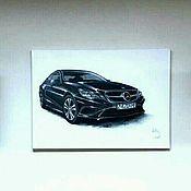 Картины и панно ручной работы. Ярмарка Мастеров - ручная работа Mercedes-Benz E-Класс. Handmade.