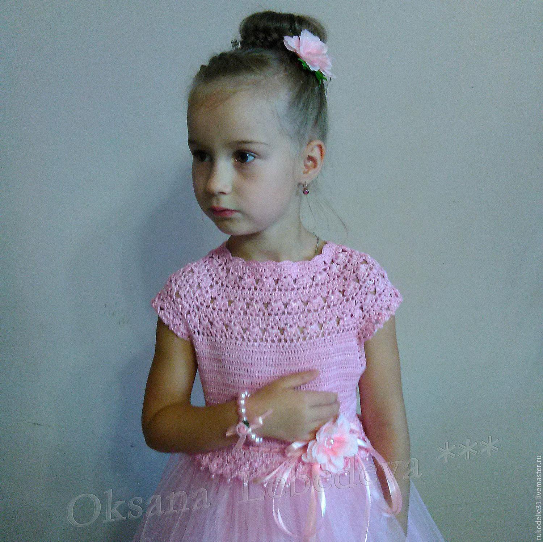 Праздничное платье на девочку 6 лет крючком