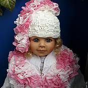 """Аксессуары ручной работы. Ярмарка Мастеров - ручная работа Комплект """"Чудо чудное"""", шапочка и шарфик. Handmade."""