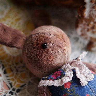 Куклы и игрушки ручной работы. Ярмарка Мастеров - ручная работа Зайка Андрейка. Игрушка в винтажном стиле. Ретро. Handmade.